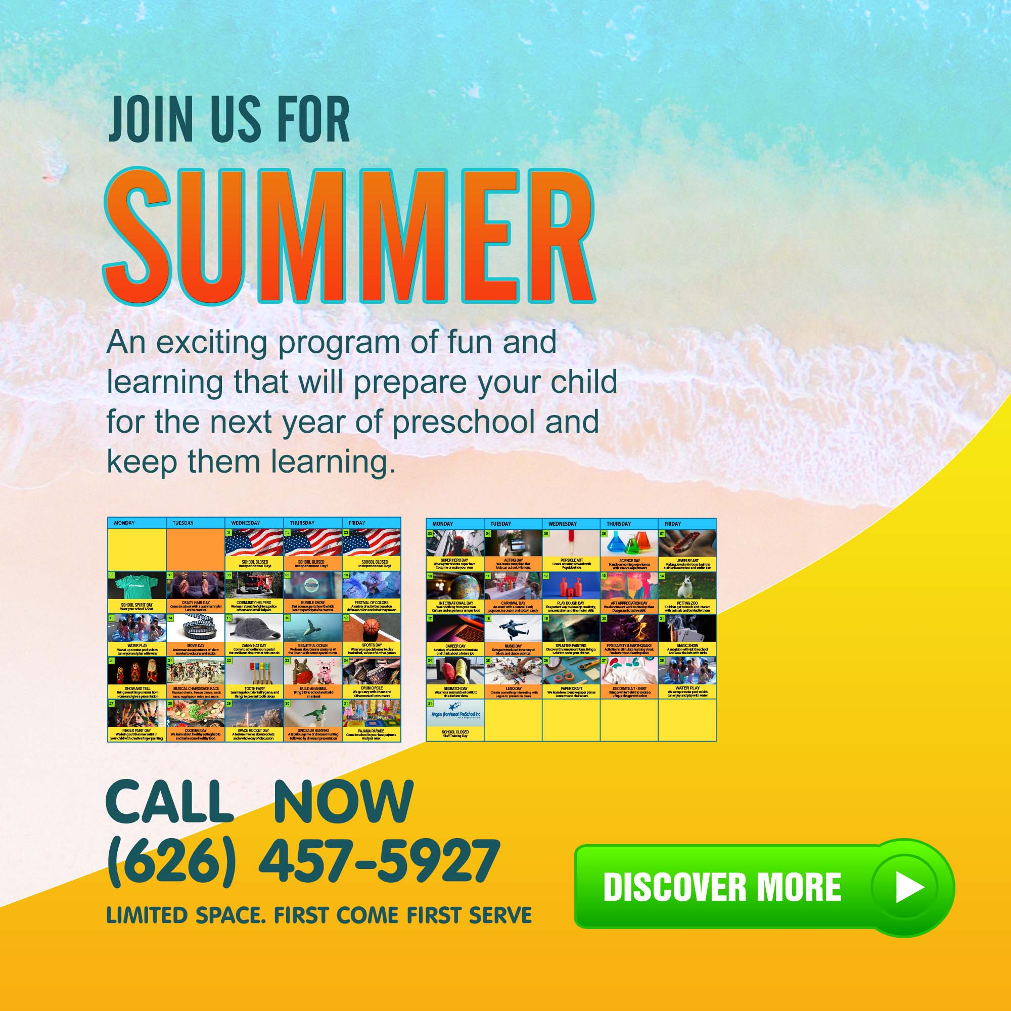 Angels Montessori Summer program